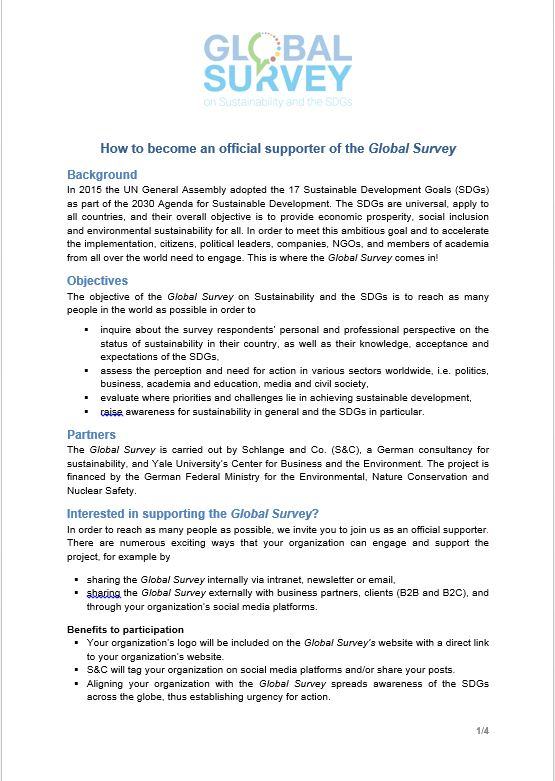 Global Survey Supporter